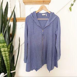 LOGO by Lori Goldstein light blue sweatshirt S